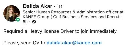 Urgently Required in Kuwait