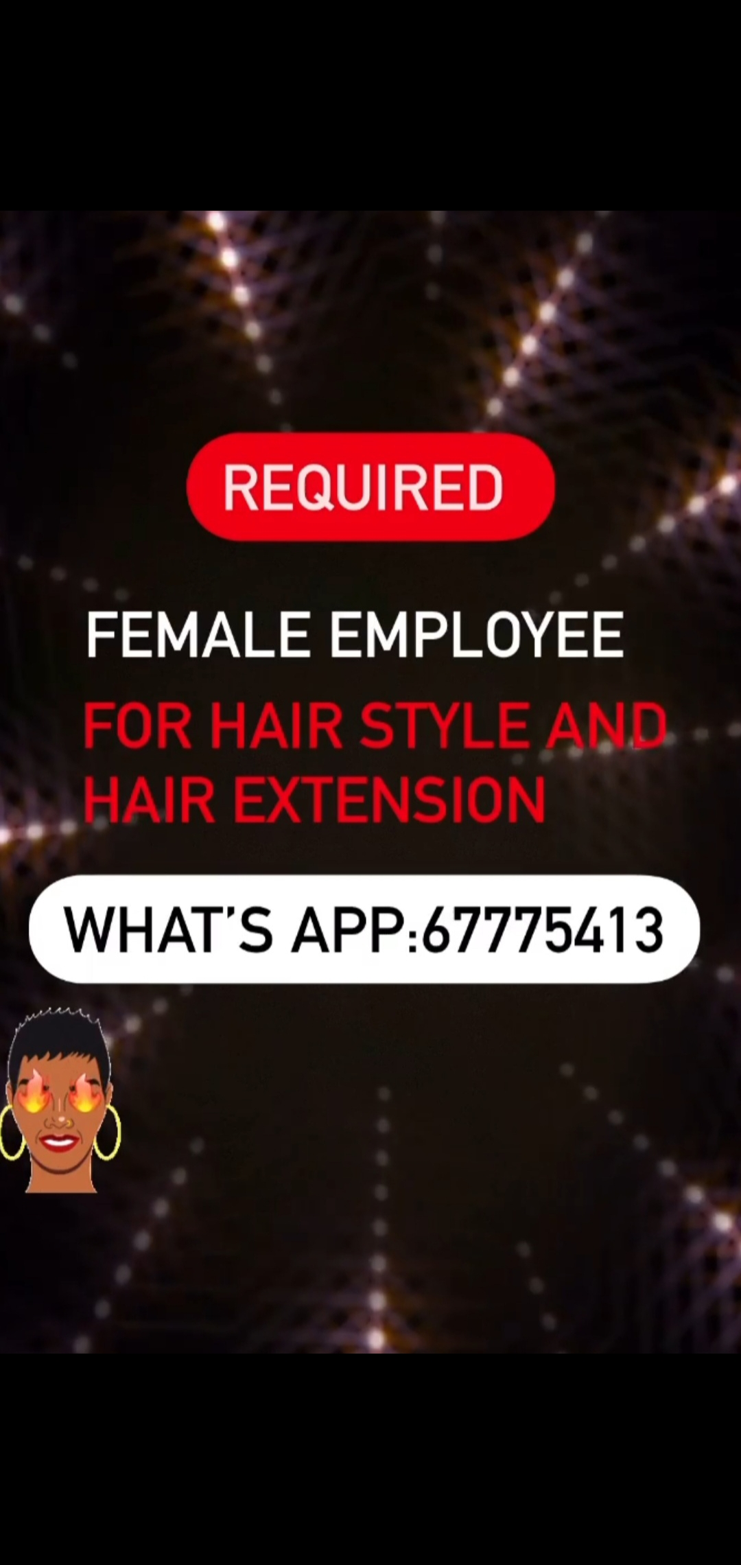 we need ladies to work in salon woman